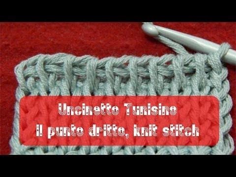 Uncinetto tunisino - Punto dritto | knit stitch - YouTube