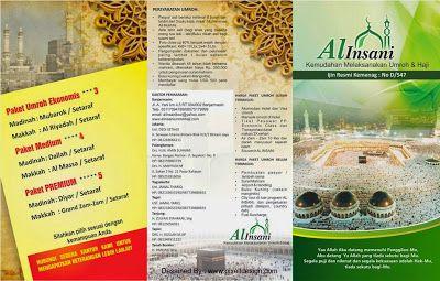Contoh Desain Brosur Umroh Haji Ari Pinterest
