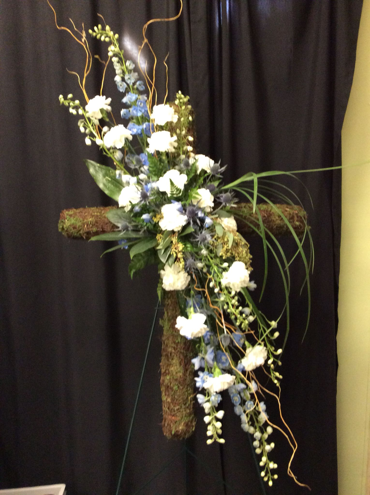 Sympathy cross funeral flowers pinterest funeral flowers and sympathy cross izmirmasajfo Image collections