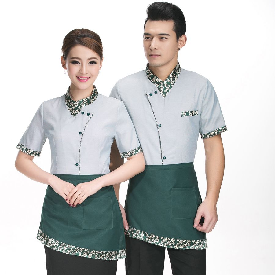 Hotel waiter and waitress uniform summer female fast food