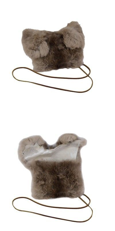Real Genuine Rabbit Fur Purse High Fashion Evening Bag Handbag Cell Phone Holder