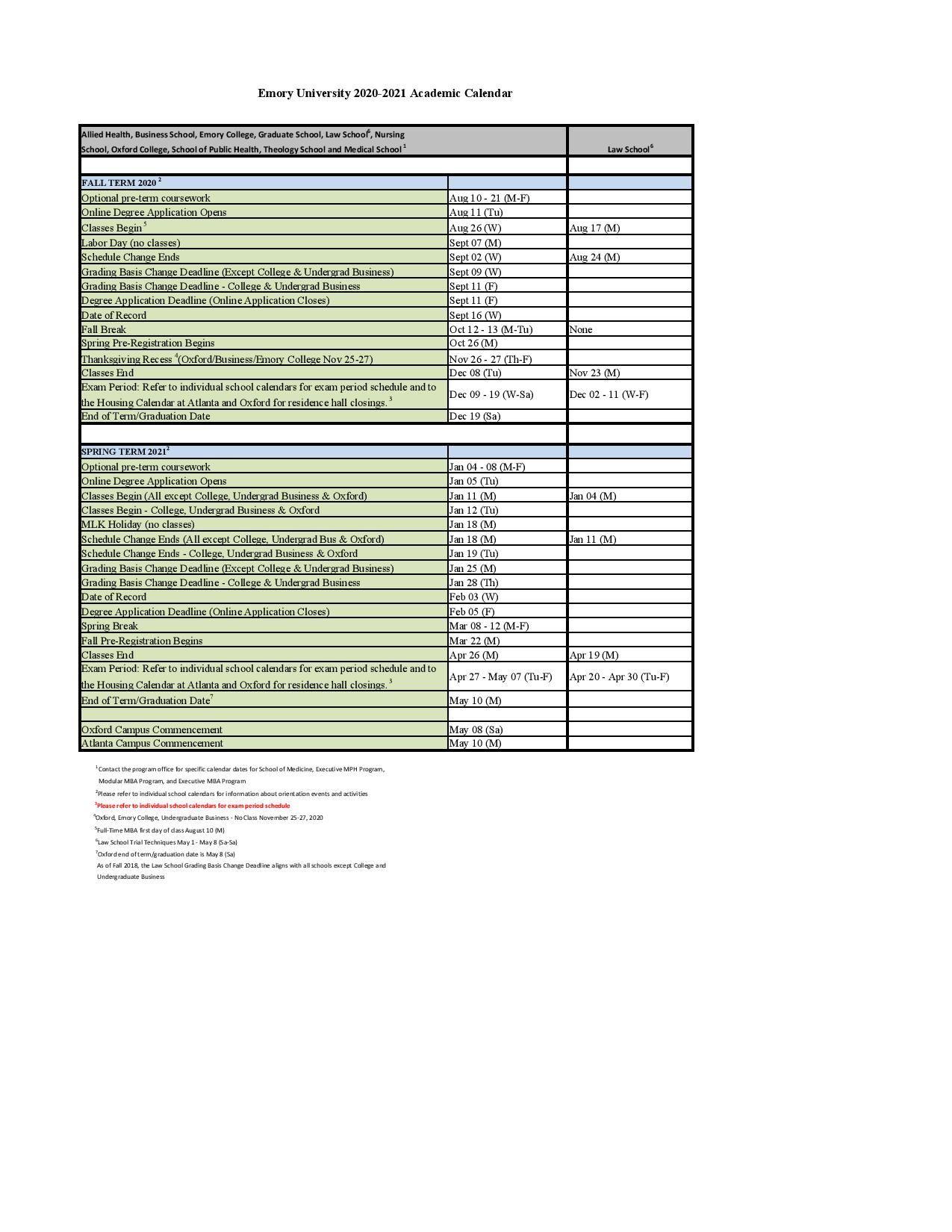 Emory Academic Calendar Spring 2022.E M O R Y U N I V E R S I T Y 2 0 2 1 C A L E N D A R Zonealarm Results
