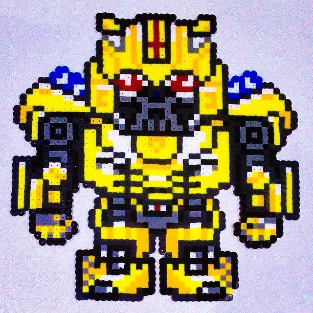 Bumblebee Transformers Perler Beads By Dexxxtasy Hama