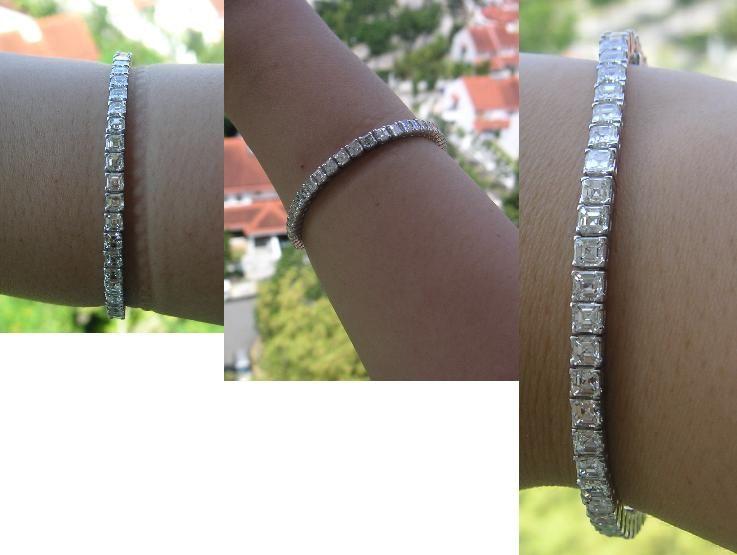 Isn't this a divine size tennis bracelet? KMW