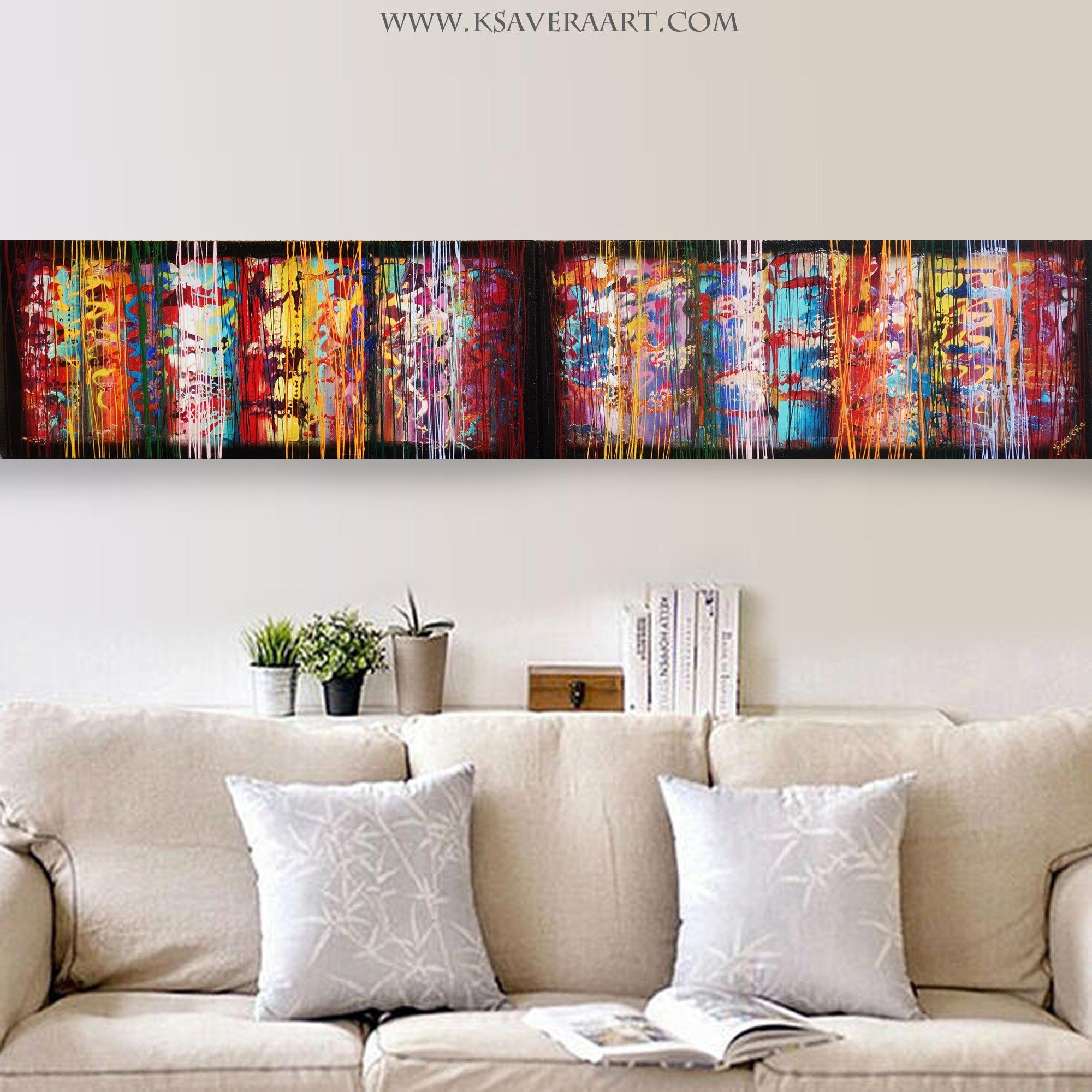 Colorful Abstract Painting A620 for Lounge, Office, Sleeping room or above sofa by Ksavera