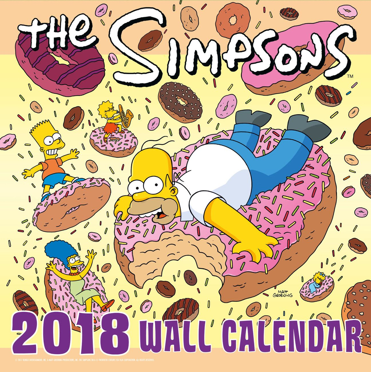 The Simpsons Wall Calendars Large Selection Calendar Wolf Book Wall Calendar