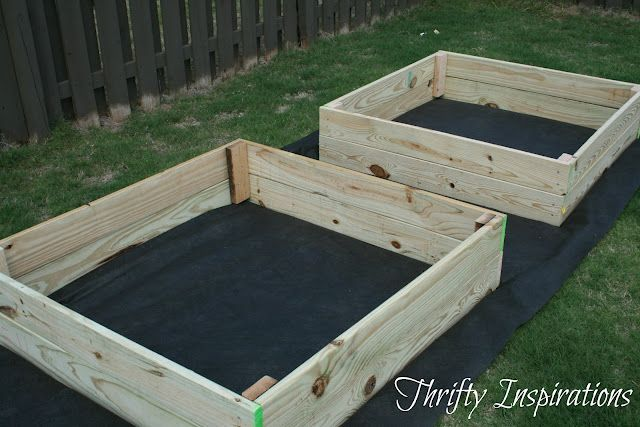 Thrifty Inspirations: How To Build A Raised Garden -