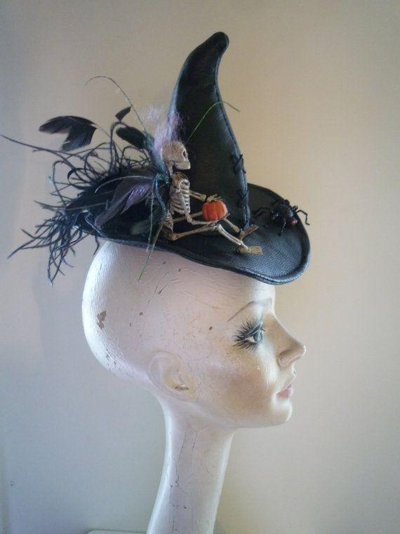 Tiny Halloween Witch Hat Fascinator Bad Faerie by MummersDream ... 5ec22678cb2