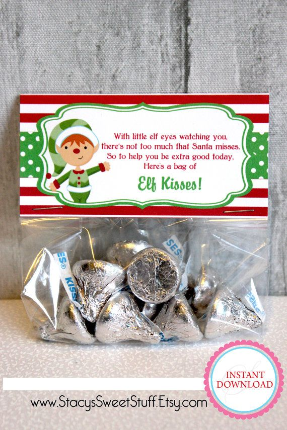 Elf Kisses Christmas Bag Topper Christmas Bag Topp