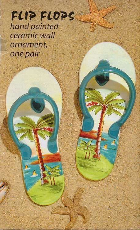 44 99 Anne Ormsby Collectible Hand Painted Ceramic Flip Flops