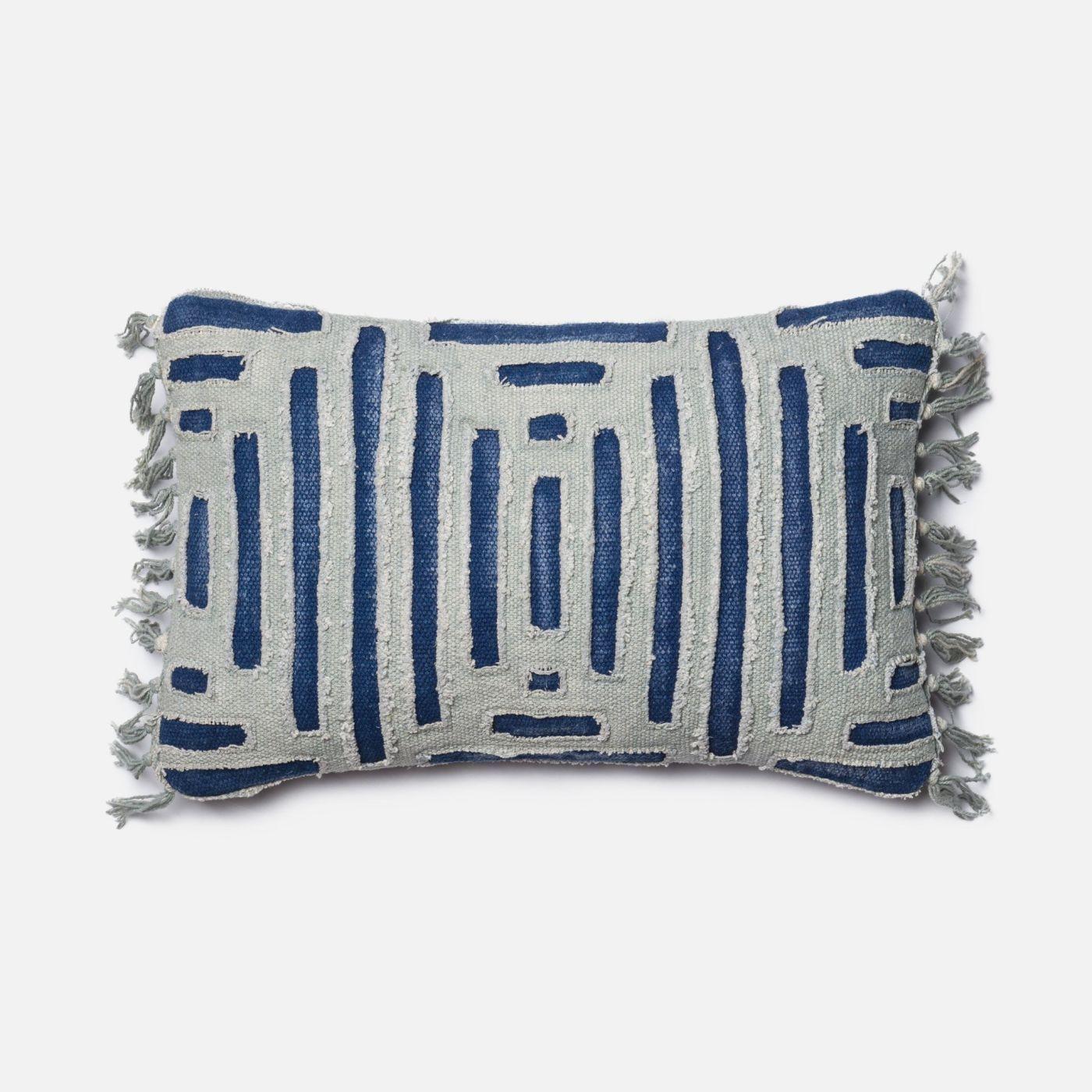 Loloi blue grey decorative throw pillow p blue grey