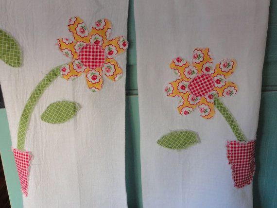 Flour Sack Kitchen Towel Gift Set by Snipitup on Etsy, $28.00