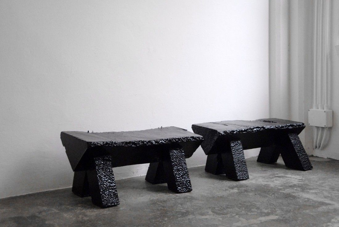 Furniture Made From Polystyrene Scraps By Max Lamb.