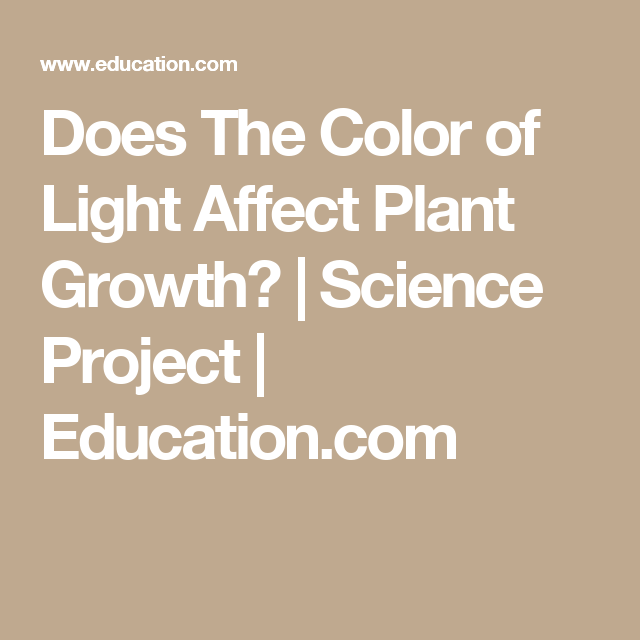 color of light affecting the growth Background: the relationship between light and plant growth can be demonstrated by exposing leaves to various colors of lightlight supplies the power to carry on photosynthesis, the food-making process in leaves but the spectrum of light most utilized by a leaf is limited to three distinct colors, red, blue and yellow.