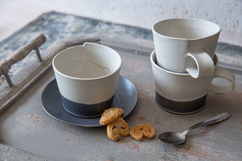 Large Coffee Cup Modern Ceramic Cup With A Saucer Black White Coffee Mug Minimalist Mug Cappuccino Mug Pottery Coffee Lovers Gift White Coffee Cups White