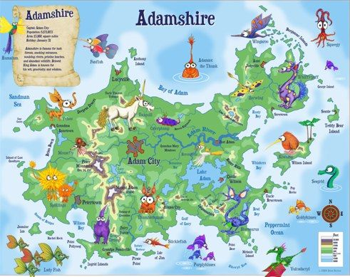 Kidlandia personalizes fantasy maps for kids fantasy map kidlandia personalizes fantasy maps for kids gumiabroncs Image collections