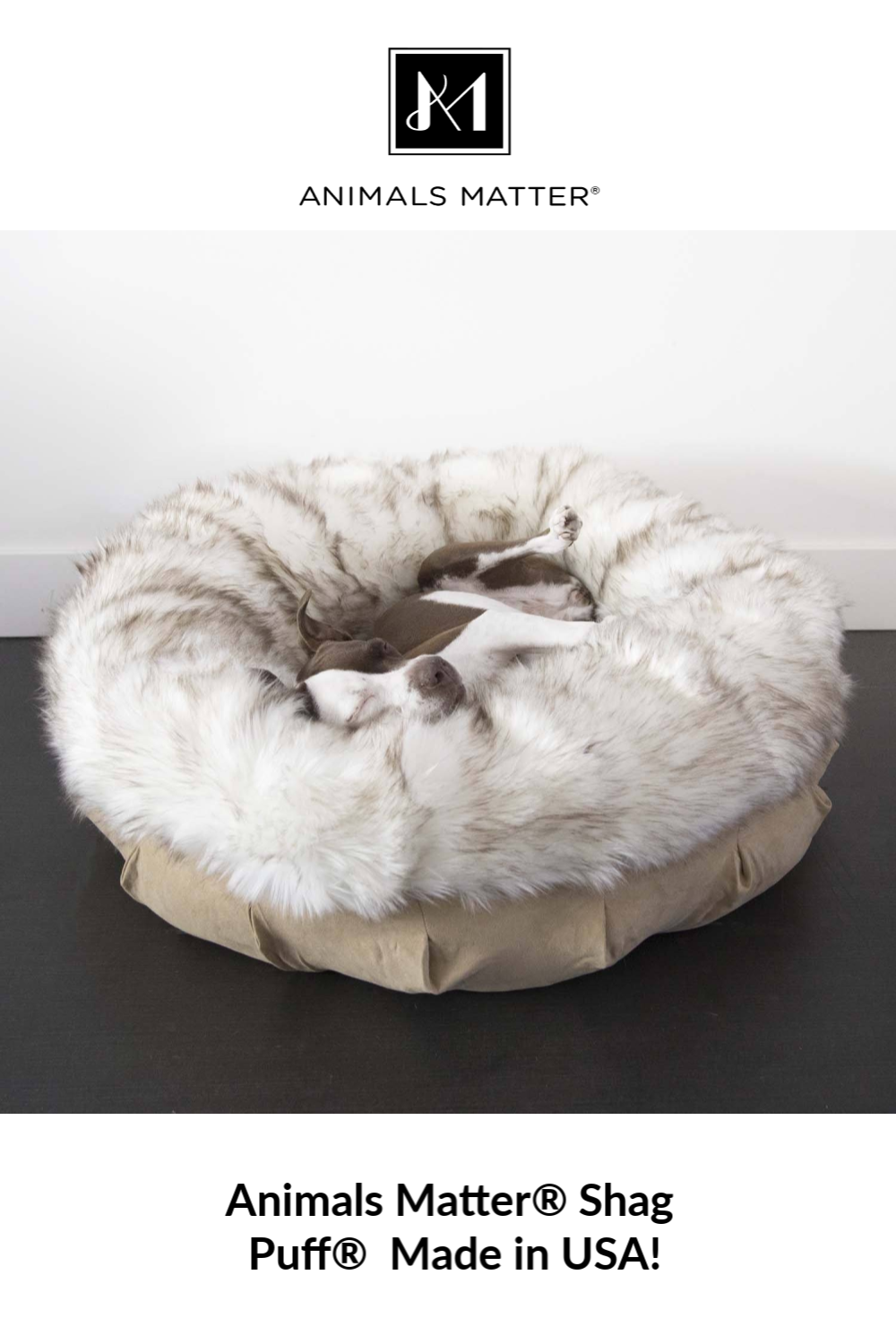 Faux Fur Shag Puff™ Luxury Dog Bed Promoted Pins Pet