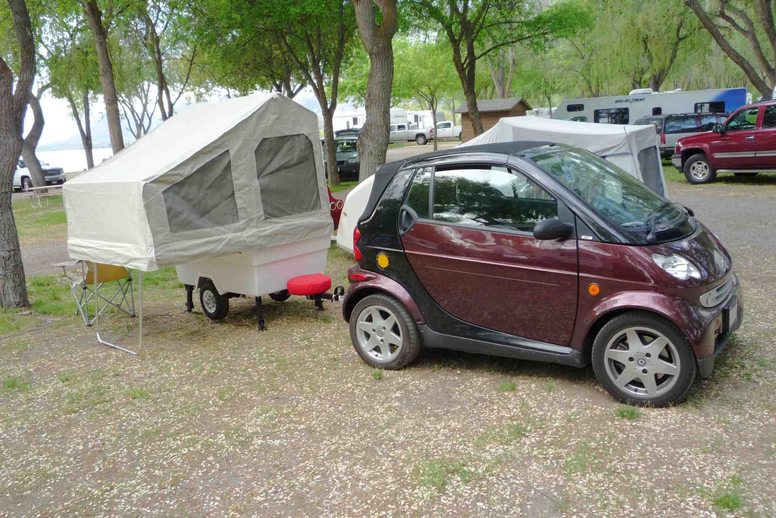 Small Car Camper Smart Car Camping With A Mini Mate Camper Motorcycle Trailers