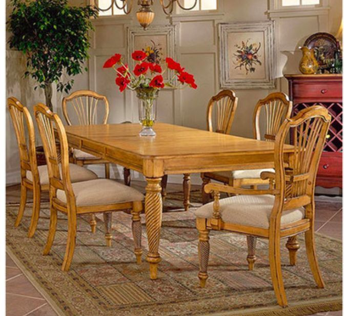 Pine Dining Set Table Chairs Carved Wood Removable Leaf Alluring Pine Dining Room Table And Chairs Decorating Inspiration
