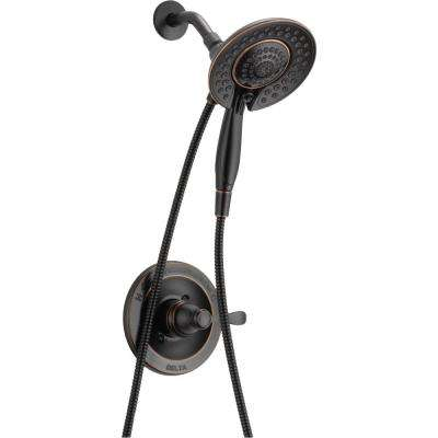 Photo of Delta Porter In2ition 2-in-1 Single-Handle 5-Spray Shower Faucet in Oil Rubbed Bronze (Valve Included)-142984C-OB-I20 – The Home Depot