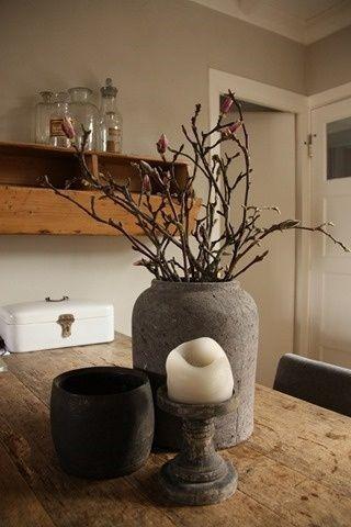 Landelijk voor op de tafel thuis pinterest for Decoratie tafel landelijk