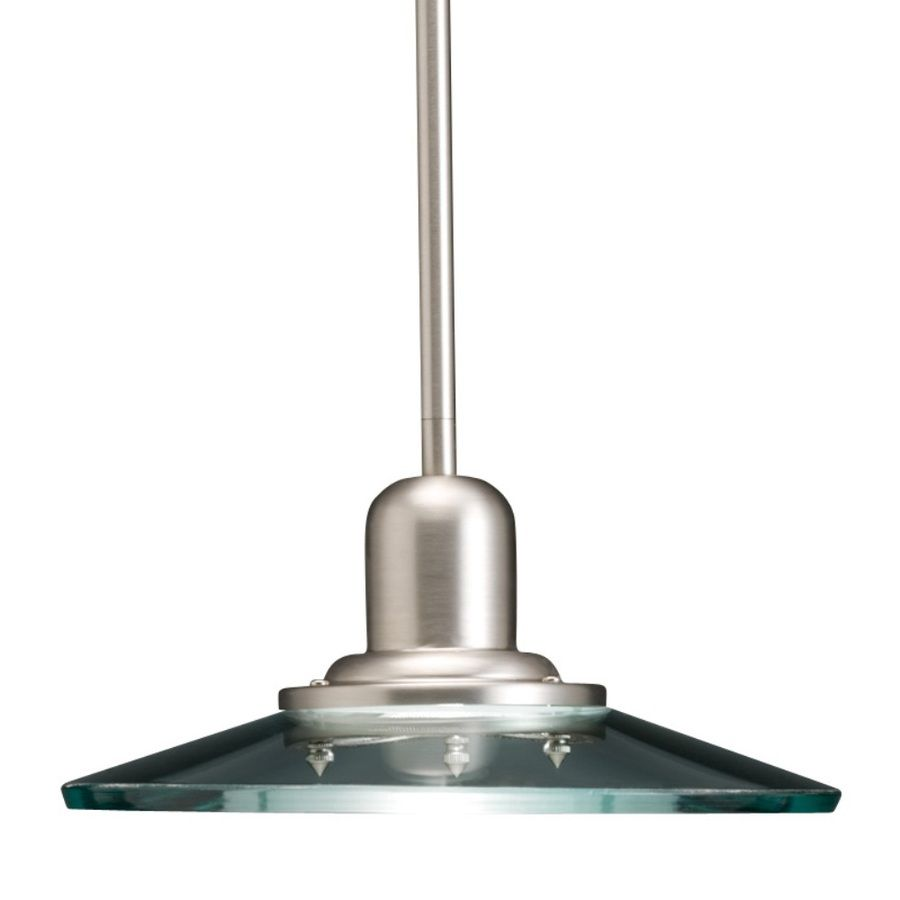 Shop allen + roth Galileo 10-in W Brushed Nickel Mini Pendant Light with  Clear - Shop Allen + Roth Galileo 10-in W Brushed Nickel Mini Pendant