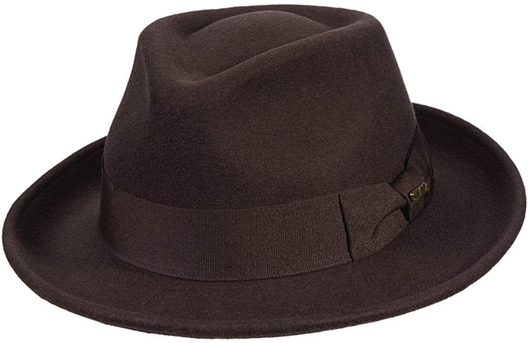 Scala Classico Men s Wool Felt Fedora with Grosgrain Hat 5f7b8216cae