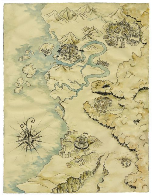 """Wellheathe, """"the (tiny) imaginary country that is the setting for Unlucky"""", created by leilaz"""