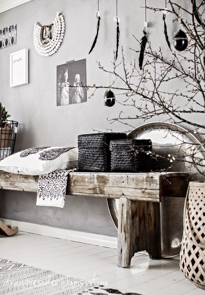 dans le style ethnique chic les plumes nous inspirent rooms pinterest style. Black Bedroom Furniture Sets. Home Design Ideas