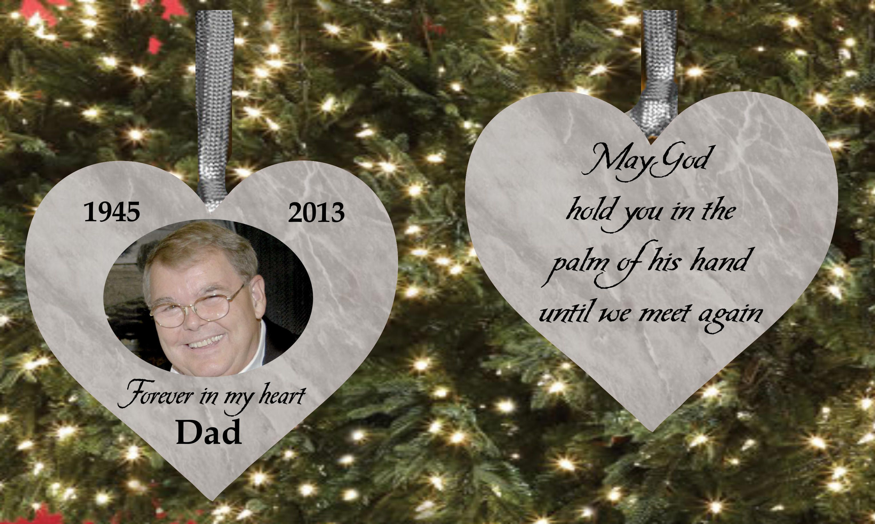 Image result for dad memorial christmas ornament