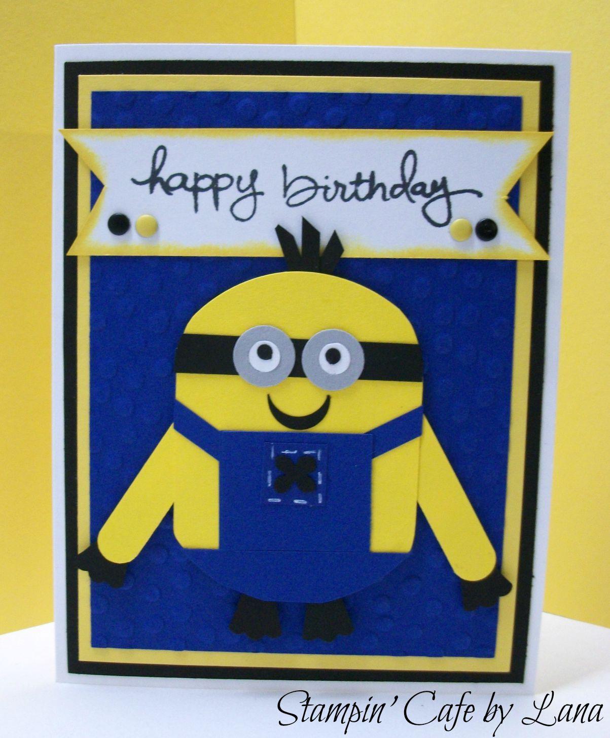 Stampin cafe by lana minion birthday cards birthday cards stampin cafe by lana minion birthday cards bookmarktalkfo Choice Image