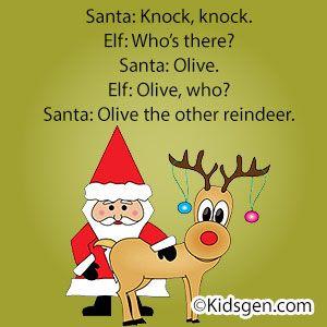 Knock Knock Santa Joke Olive The Other Reindeer Grammar Jokes Santa