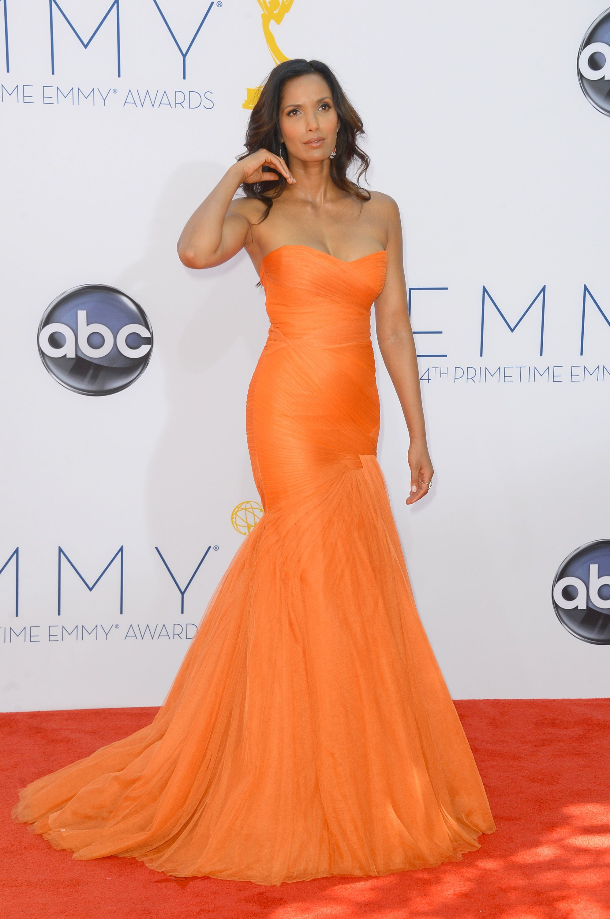 Padma lakshmi in monique lhuillier great style pinterest padma