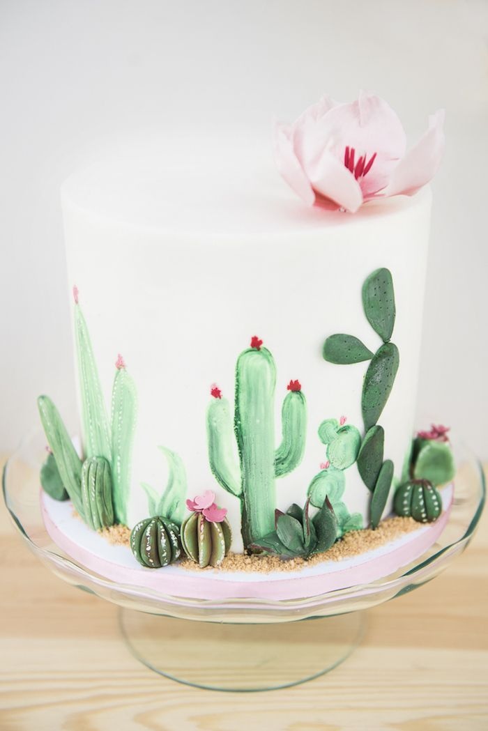 Desert Love Cactus Themed Birthday Party   Kara's Party Ideas #decoratersicing