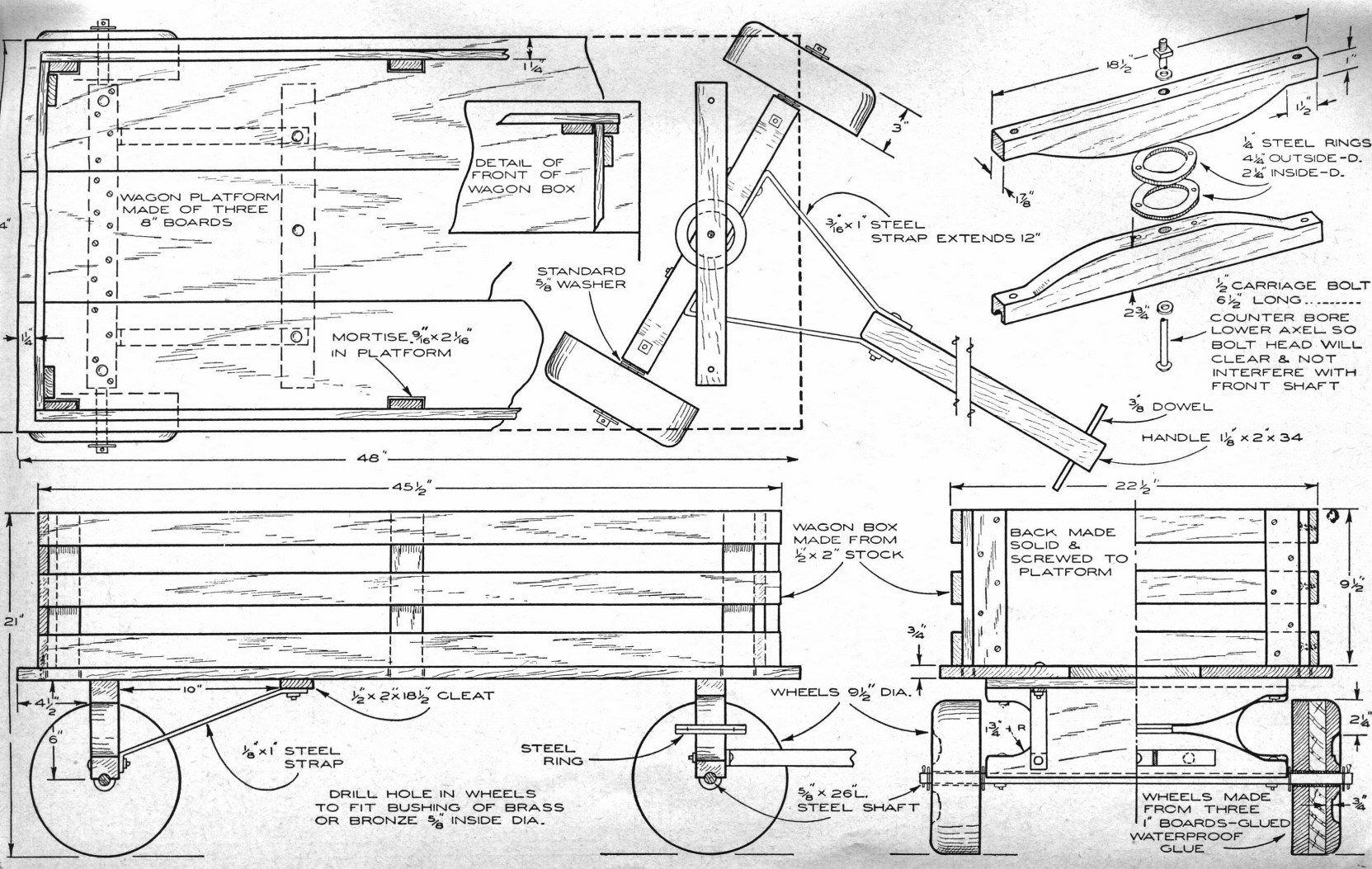 pin on wood wagon
