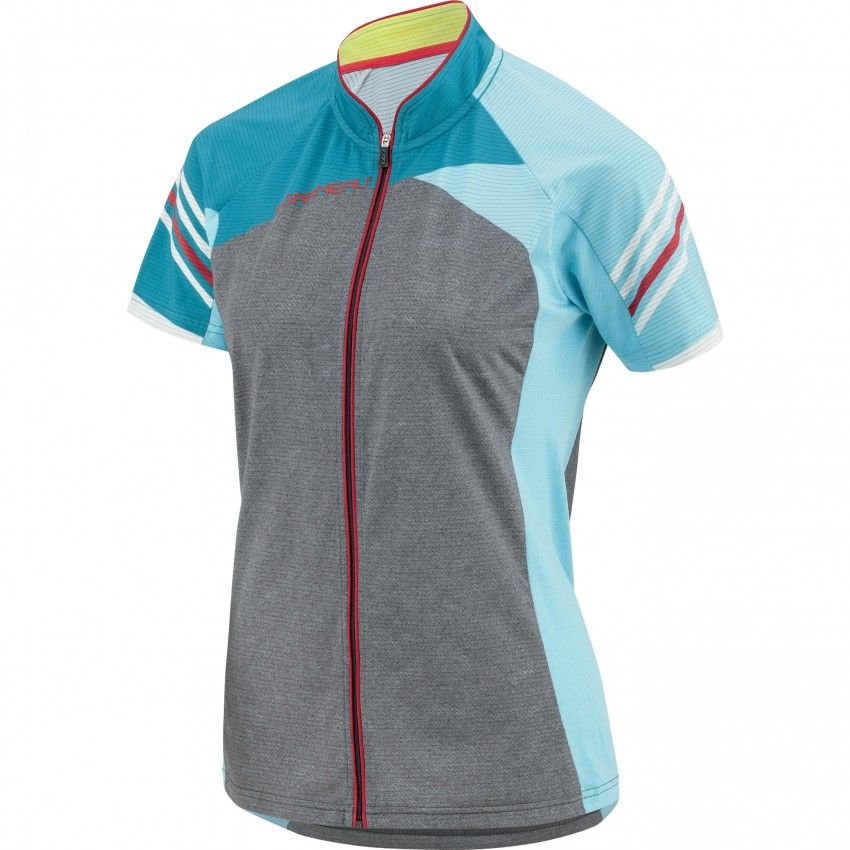 WOMEN'S RIVER RUN CYCLING JERSEY  With its convenient full zip and wide back pocket, the women's River Run Jersey is a high-performance MTB top for serious riding. The comfortable  fit is neither too loose nor too tight so you can focus on the path ahead  without distractions.