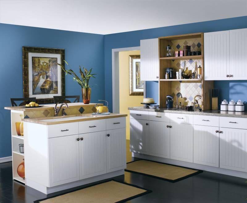 Vistoso Cocina Pared Azul Acento Festooning - Ideas de Decoración de ...
