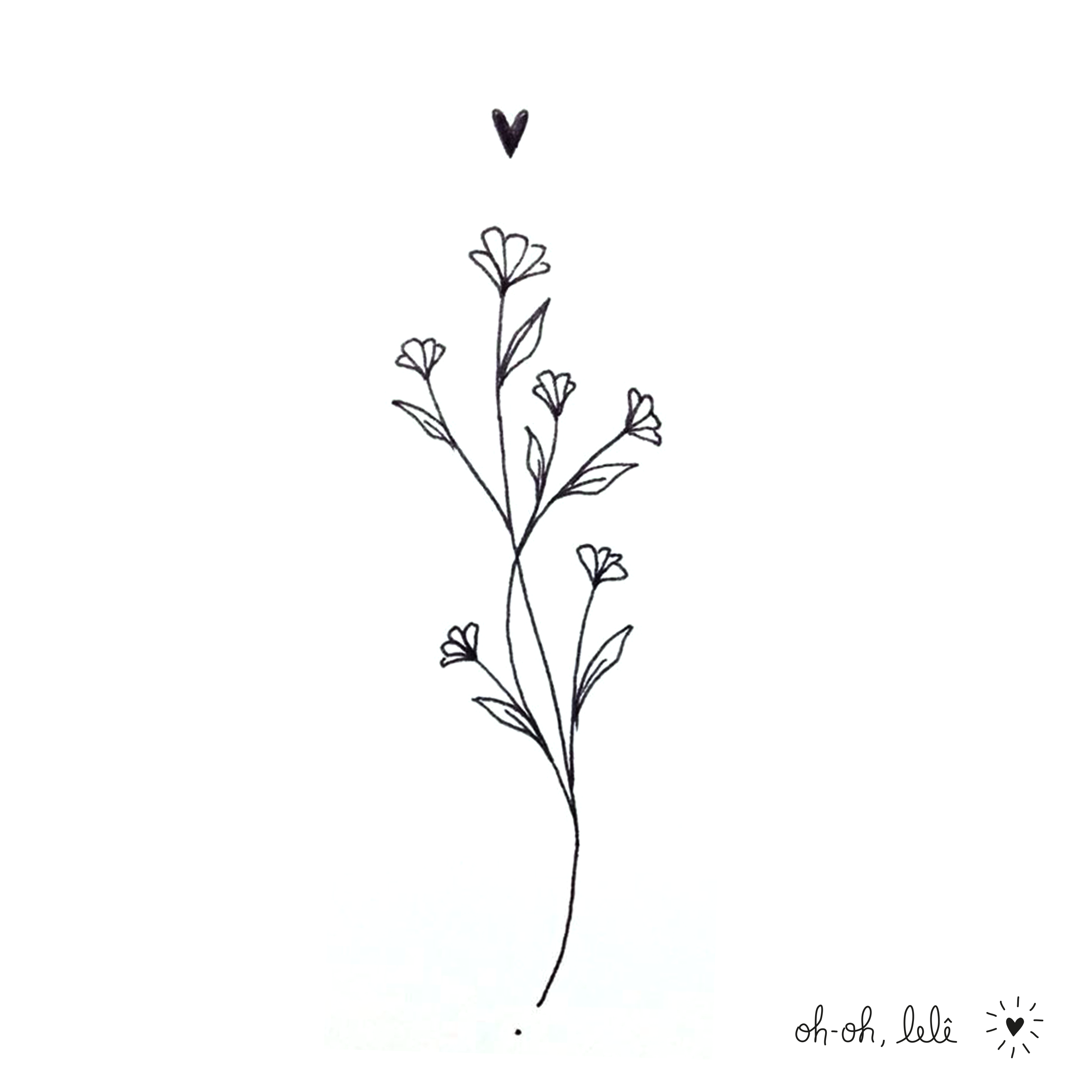 Wildflower Line Drawing : Letícia heger oh lelê flowers pinterest