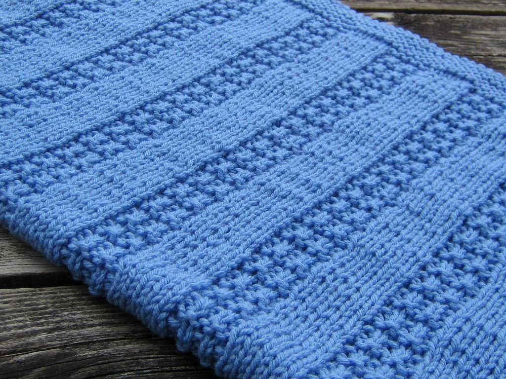 Knitting Blankets : Newborn baby blanket by altadena green free knitted
