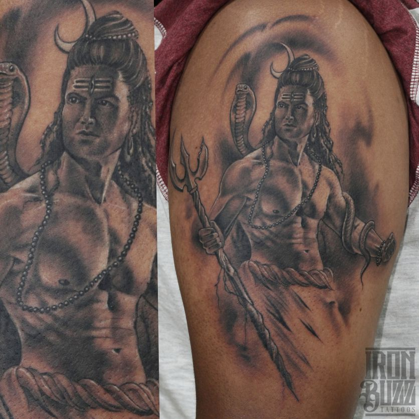 Iron Buzz Tattoos Andheri Mumbai: Shiva Tattoo Design, Shiva