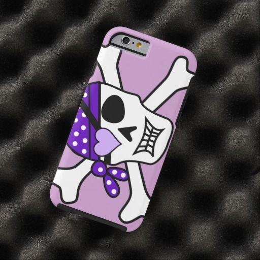 Purple Pirate Crossbones iPhone 6 Case