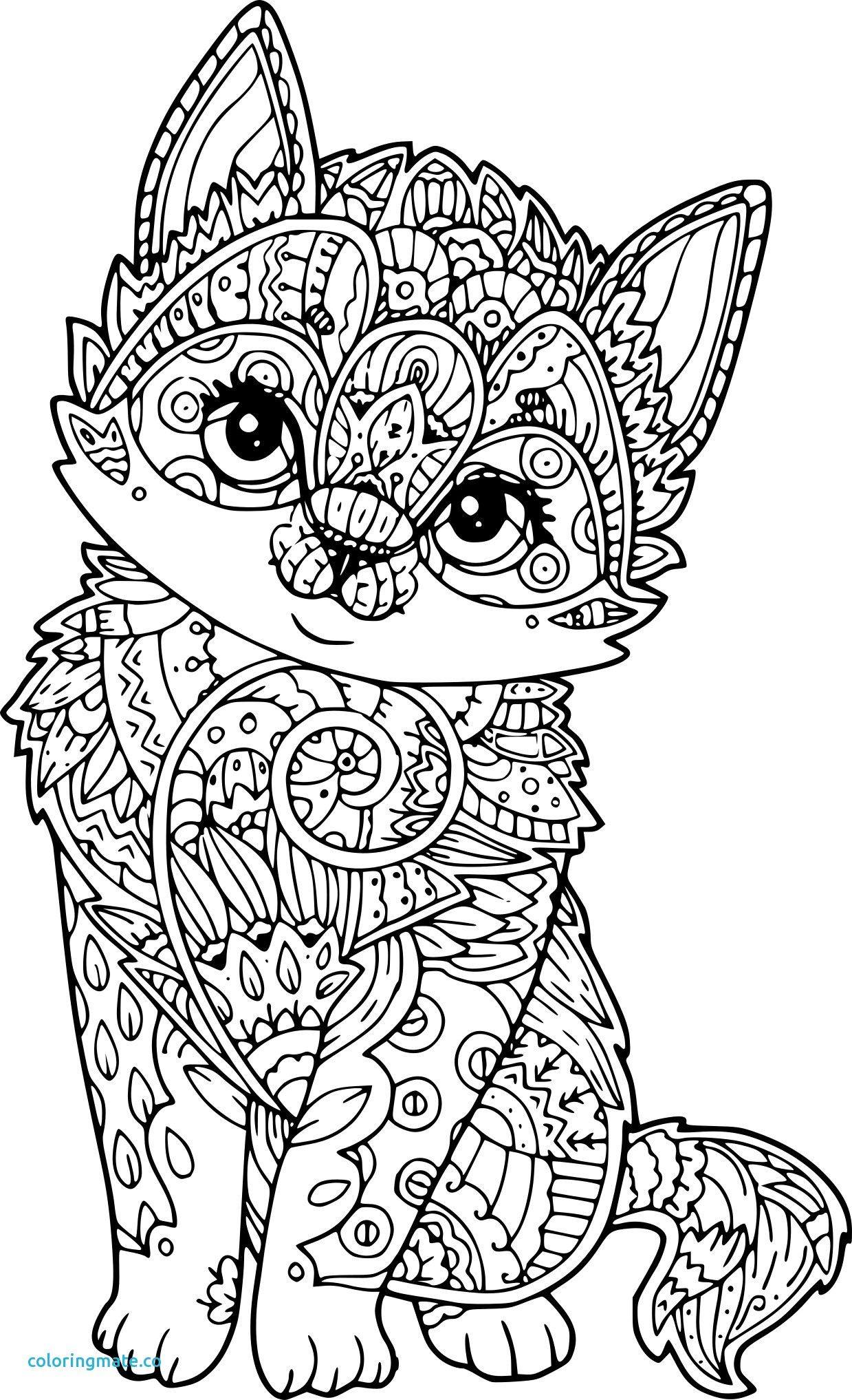 coloriage anti stress chat à imprimer