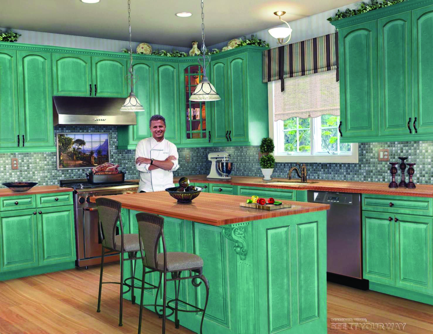 Beautiful Blue Metal Kitchen Cabinets That Look Beautiful Simple Kitchen Remodel Kitchen Remodel Inspiration Kitchen Remodel Small