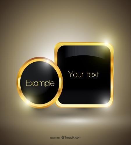 اطار ذهبي اكثر من رائع وفخم جاهز لابداعاتكم ملف مفتوح Vector Free Graphic Design Logo Vector