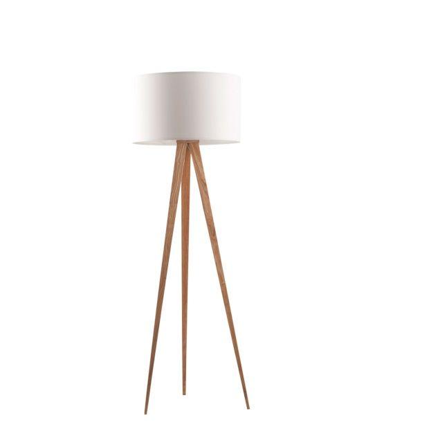 Zuiver Tripod Vloerlamp Hout Wit Afbeelding 1 Vloerlamp Tripod Lamp
