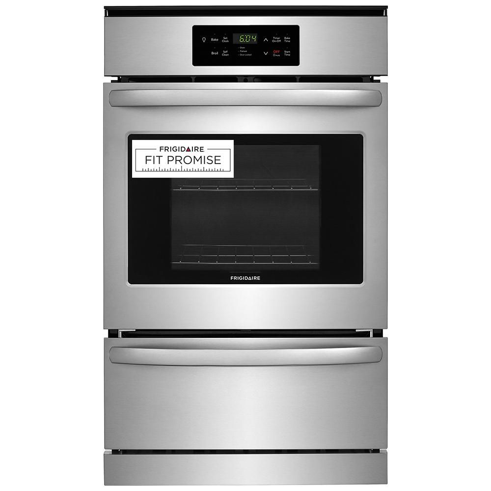 Frigidaire 24 In Single Gas Wall Oven In Stainless Steel Ffgw2426us The Home Depot Gas Wall Oven Single Gas Wall Oven Wall Oven