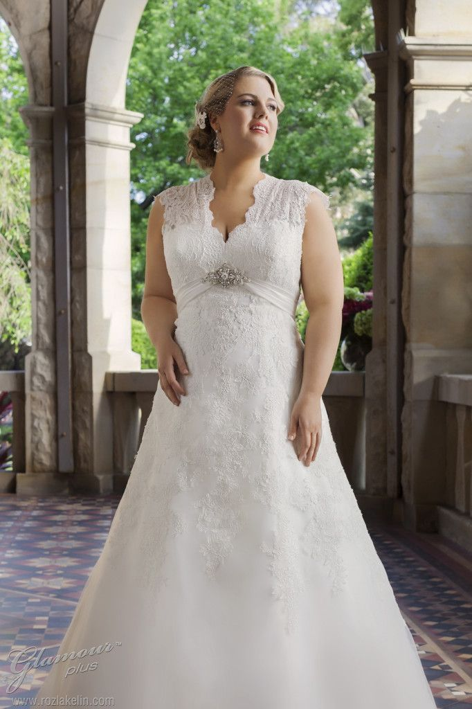 plus size weddng gowns | Wedding Dresses » glamour plus size wedding ...