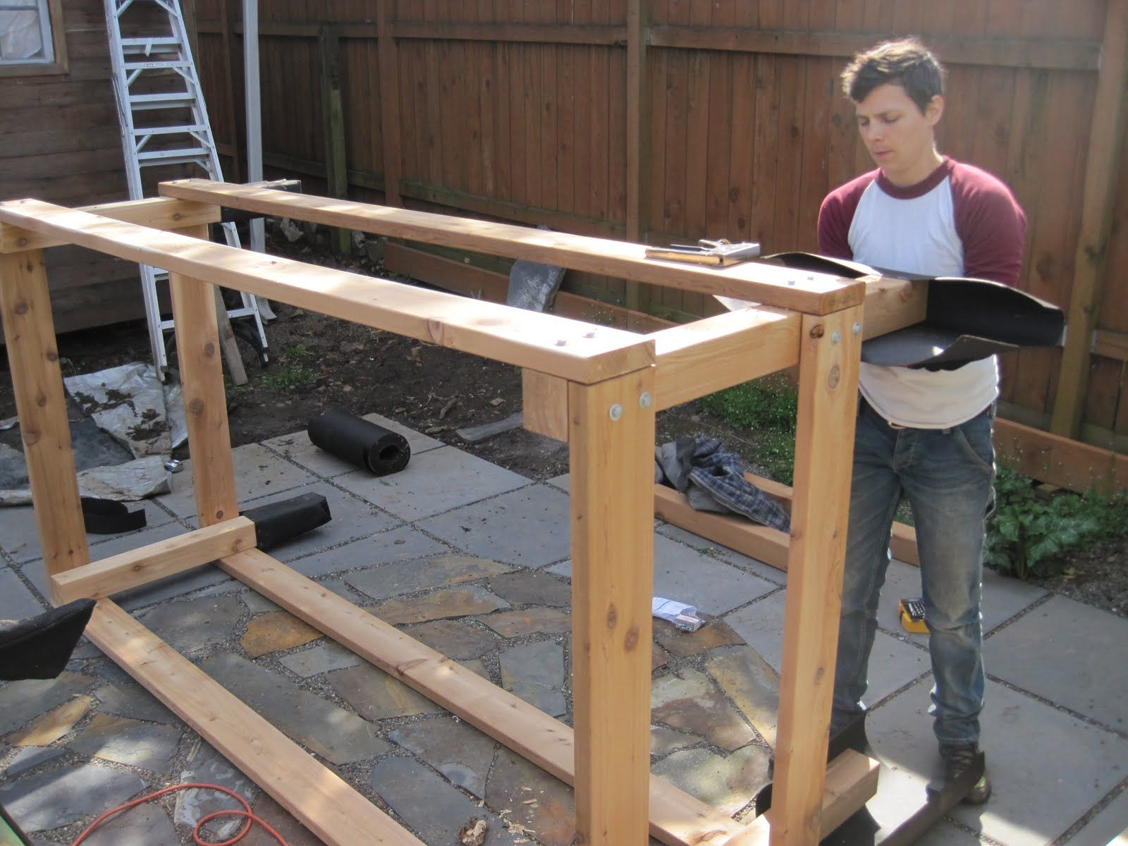 Corrugated Metal Raised Bed | CEDAR U0026 METAL RAISED BED PROJECT
