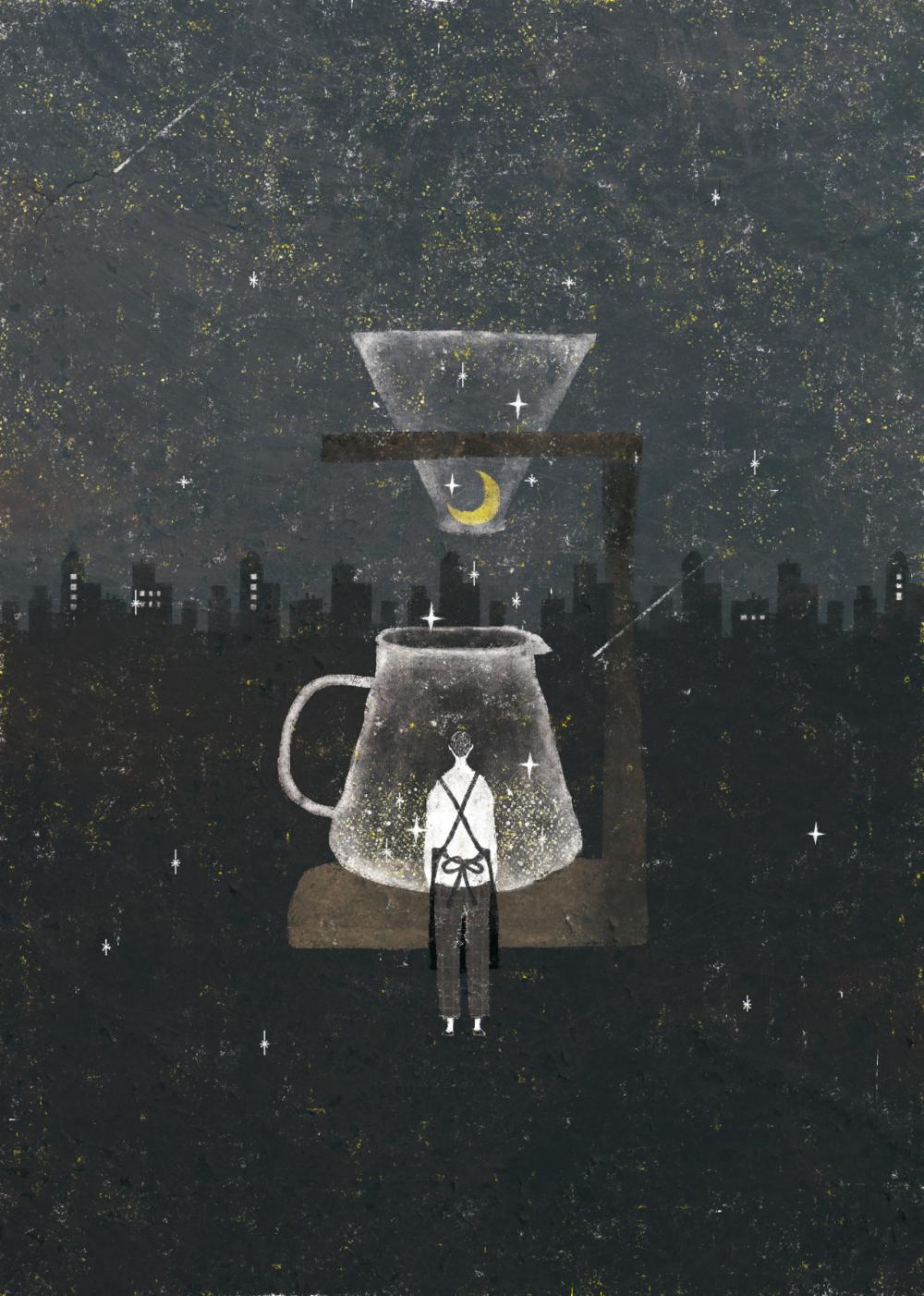 Akira Kusaka 珈琲 イラスト コーヒーのイラスト 絵本イラスト