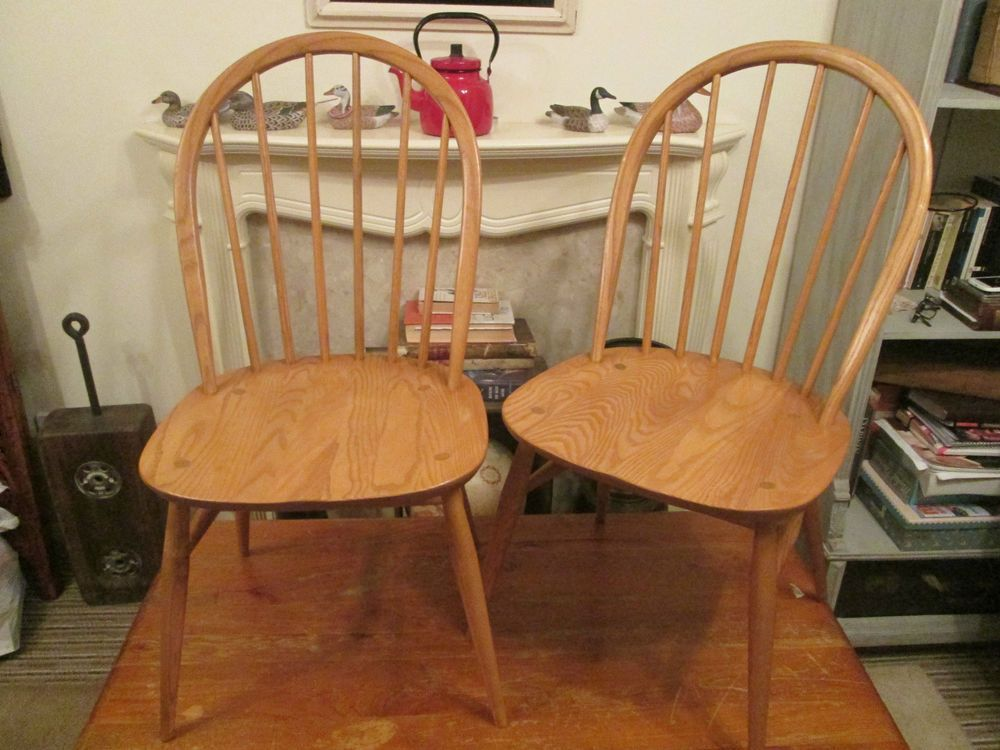 Ercol Originals 1877 Windsor Blonde Dining Chairs Stunning X2 AVAILABLE